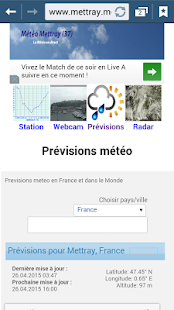 Météo Mettray (37) - screenshot