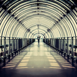 the Tunnel by Bendik Møller - Buildings & Architecture Other Interior ( paris, leading lines, shadow, architectural, symmetry, light, built, tunnel, city )