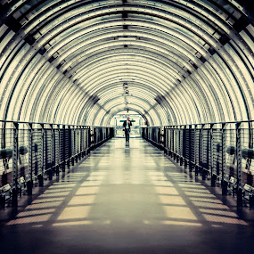 the Tunnel by Bendik Møller - Buildings & Architecture Other Interior ( paris, leading lines, shadow, architectural, symmetry, light, built, tunnel, city,  )
