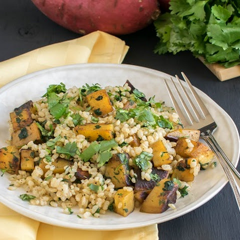 Cajun Spiced Sweet Potato Cilantro Pilaf