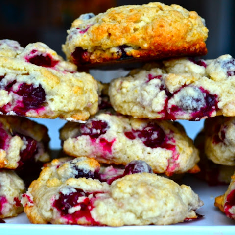 Lemon and Fresh Cranberry Scones