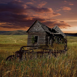 Sundown by Dave Bower - Buildings & Architecture Decaying & Abandoned