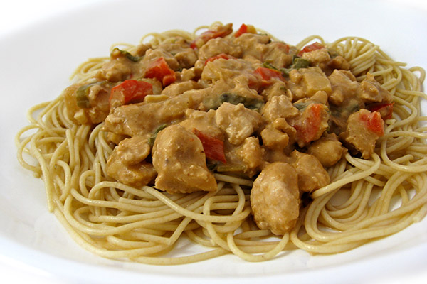 Skinny Chinese Spaghetti with Meat Sauce (Dan Dan Noodles) Recipe ...