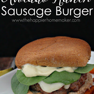 Avocado Ranch Sausage Burgers