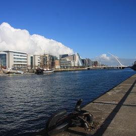 Dublin Quays by Dermot Conliffe - City,  Street & Park  Street Scenes ( ireland, waterscape, dublin, quays, cityscape )