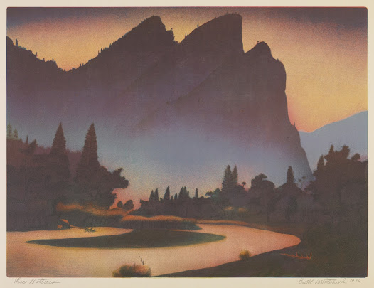 That concludes our virtual tour of the majestic landscape of the United States. Of course, nothing compares to the real thing--so come visit the original art here at the Amon Carter or visit a National Park near you!
