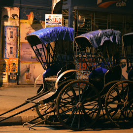 kolkata on wheels by Varun Agarwal - Transportation Other ( rickshaw, street lights, heritage, kolkata streets )