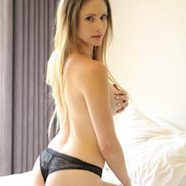 by New Sensory Art Photography - Nudes & Boudoir Boudoir ( boudoir, lingerie, heels, blonde, nudes )