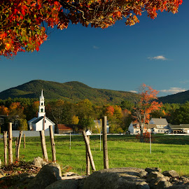 Tamworth, NH. by Chris Arbeene - City,  Street & Park  Vistas