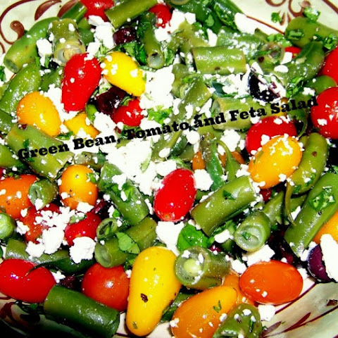 Crunchy Fresh Green Bean, Colorful Tomato and Feta Salad