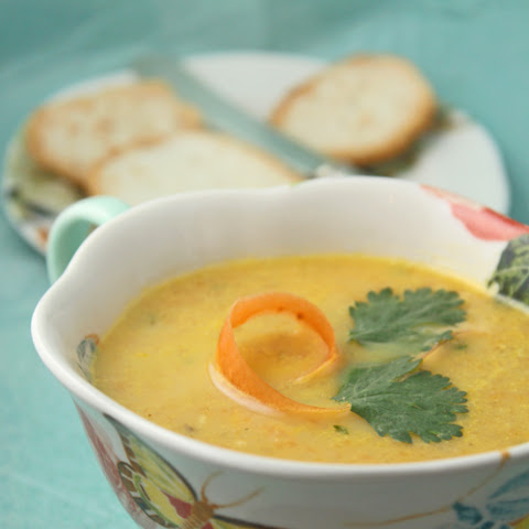 Roasted Carrot And Coriander Soup