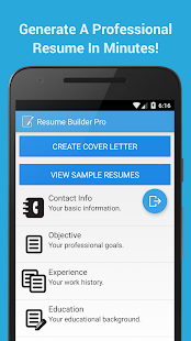 Resume Builder Pro screenshot for Android