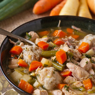 Turkey Soup with Potato Dumplings