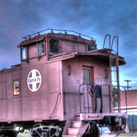 old Caboose by Jackie Eatinger - Transportation Trains