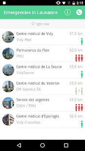 Urgences Lausanne screenshot for Android