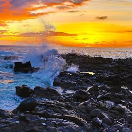 Dakar Sunset 4 by Marc Boyd - Landscapes Sunsets & Sunrises ( clouds, sunset, beach, dakar, senegal,  )