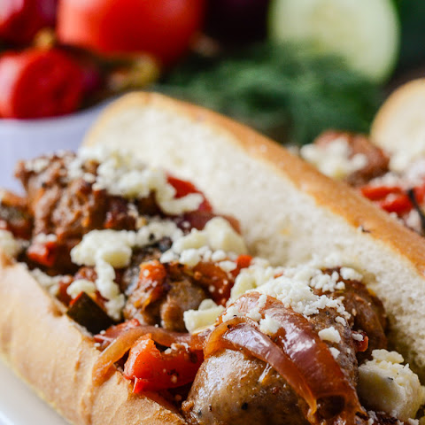 Greek-Style Sausage & Peppers Sandwich