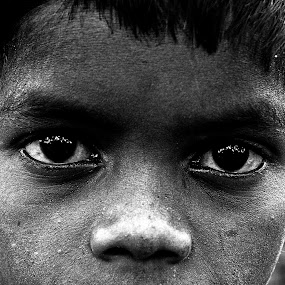 by Nayan Shaurya - Babies & Children Child Portraits ( black and white )