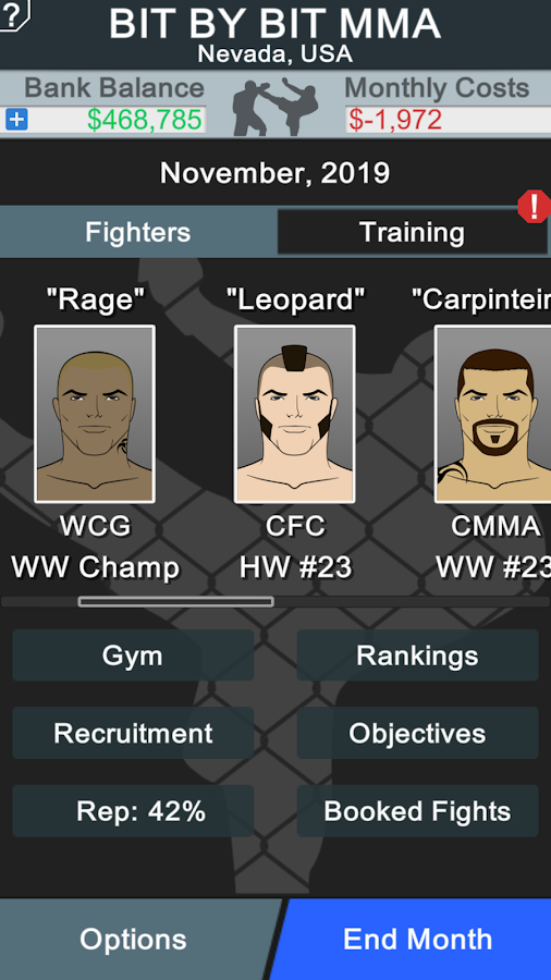 MMA Manager Screenshot 0