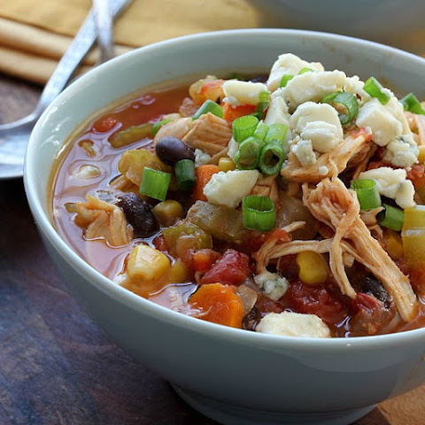 Slow Cooker Two Bean Buffalo Chicken Chili