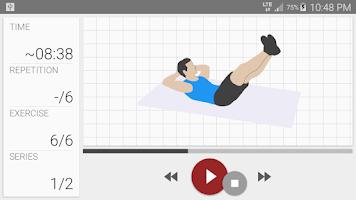 Screenshot of Abs workout