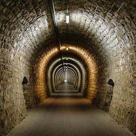 Old tunnel by Simon Olup - Buildings & Architecture Public & Historical ( lights, building, architecture, public, tunnel )
