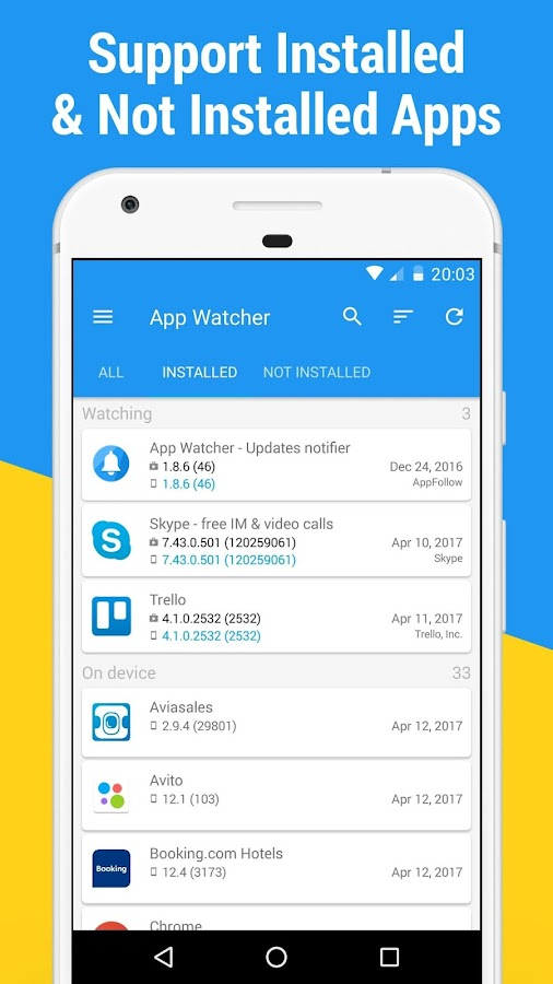 App Watcher: Сheck Update Screenshot 2
