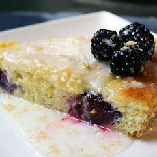 Lemon Cornmeal Cake with Lemon Glaze and Crushed-Blueberry Sauce ...