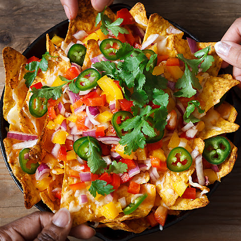 Loaded Sweet Pepper Nachos