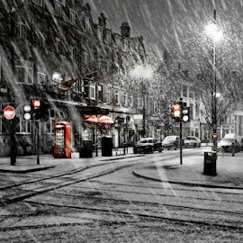 Let it snow Let it snow !!! by Dawn Tolmie - City,  Street & Park  Street Scenes