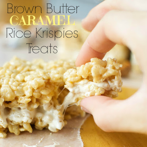 Brown Butter Caramel Rice Krispies Treats