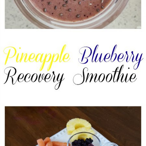 Pineapple Blueberry Recovery Smoothie