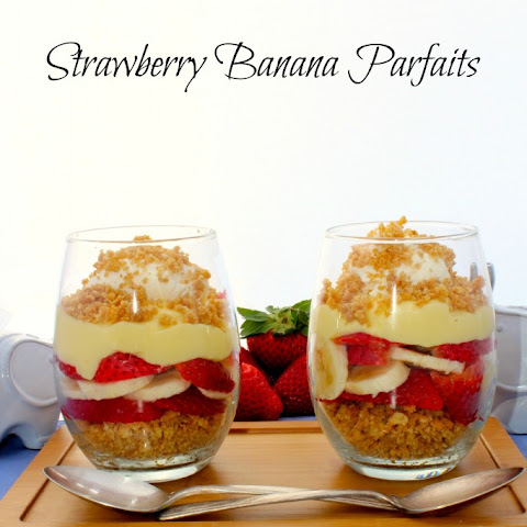 Strawberry Banana Parfaits