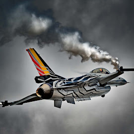 F-16 by Stephen Crawford - Transportation Airplanes