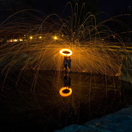 Umbrella of Fire by Aires Spaethe - Abstract Light Painting
