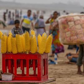 Corn by the sea by Hariharan Venkatakrishnan - City,  Street & Park  Street Scenes
