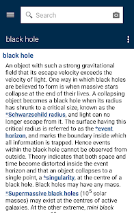Oxford Dictionary of Astronomy - screenshot