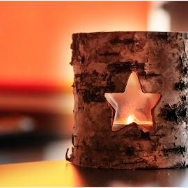 Candle Wooden by Ovidiu Gruescu - Artistic Objects Furniture