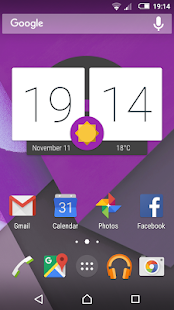Material Purple (Xperia Theme) - screenshot
