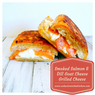 Smoked Salmon and Dill Goat Cheese Grilled Cheese