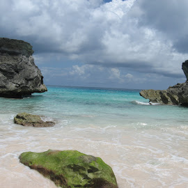 Bermudian Beauty by Nicole Kosakowski - Landscapes Beaches ( water, blue sky, rock formations, pink sand, beauty, beach, relaxing )