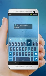 Blueberry sky TouchPal Skin - screenshot
