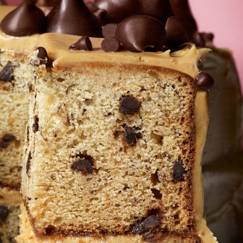 Banana–Chocolate Chip Cake with Peanut Butter Frosting