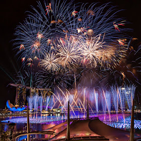 Marina Bay Countdown by Joseph Goh Meng Huat - Public Holidays New Year's Eve ( marina bay singapore, countdown, fireworks, joseph goh, joseph goh meng huat, esplanade, singapore, marina bay )