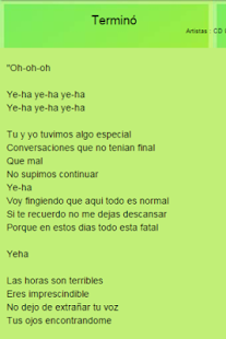 CD 9 Top Letras - screenshot