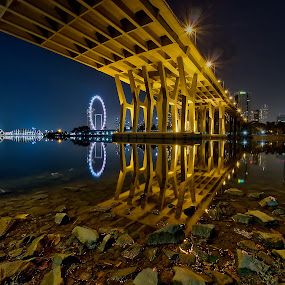Benjamin Sheares Bridge by Nicholas Leong - Buildings & Architecture Bridges & Suspended Structures