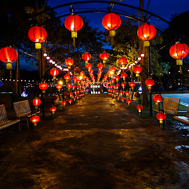 Lunar New Year Deco by Steven De Siow - Abstract Patterns ( abstract, pattern, abstract art, abstract photography, lanterns )