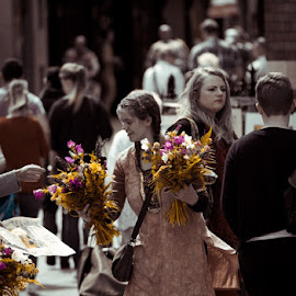 Flower Lady by Rory Jennequin - People Street & Candids ( color, woman, street seller, flowers, street photography )