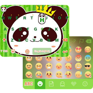 Cool Panda Emoji KeyboardTheme