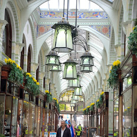 Royal Arcade by Bob White - Buildings & Architecture Other Interior ( victorian arcade, shopping mall, flower baskets, victorian, shopping, flowers, arcade,  )